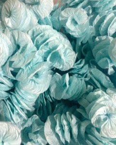 Papel Decorativo Caracol Liso / Azul Claro
